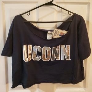 VS Pink collegiate crop top